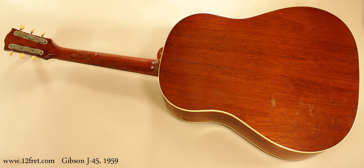 Gibson J-45 1959  full rear view