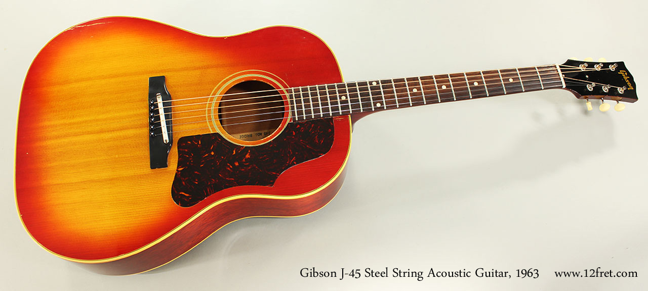 Gibson J-45 Steel String Acoustic Guitar, 1963 Full Front View