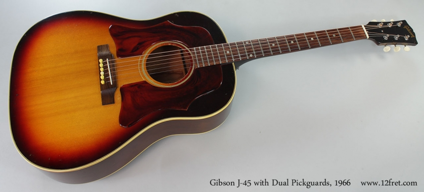 Gibson J-45 with Dual Pickguards, 1966 Full Front View