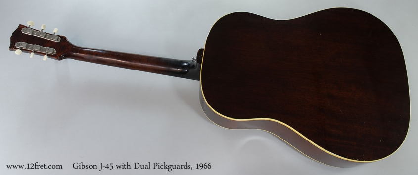 Gibson J-45 with Dual Pickguards, 1966 Full Rear View