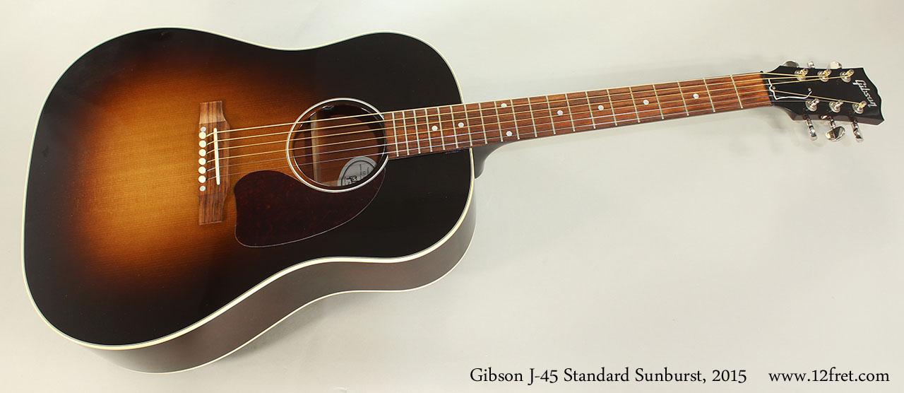 Gibson J-45 Standard Sunburst, 2015 Full Front View