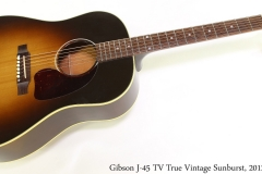 Gibson J45 TV True Vintage Sunburst, 2012 Full Front View