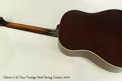Gibson J-45 True Vintage Steel String Guitar, 2014  Full Rear View