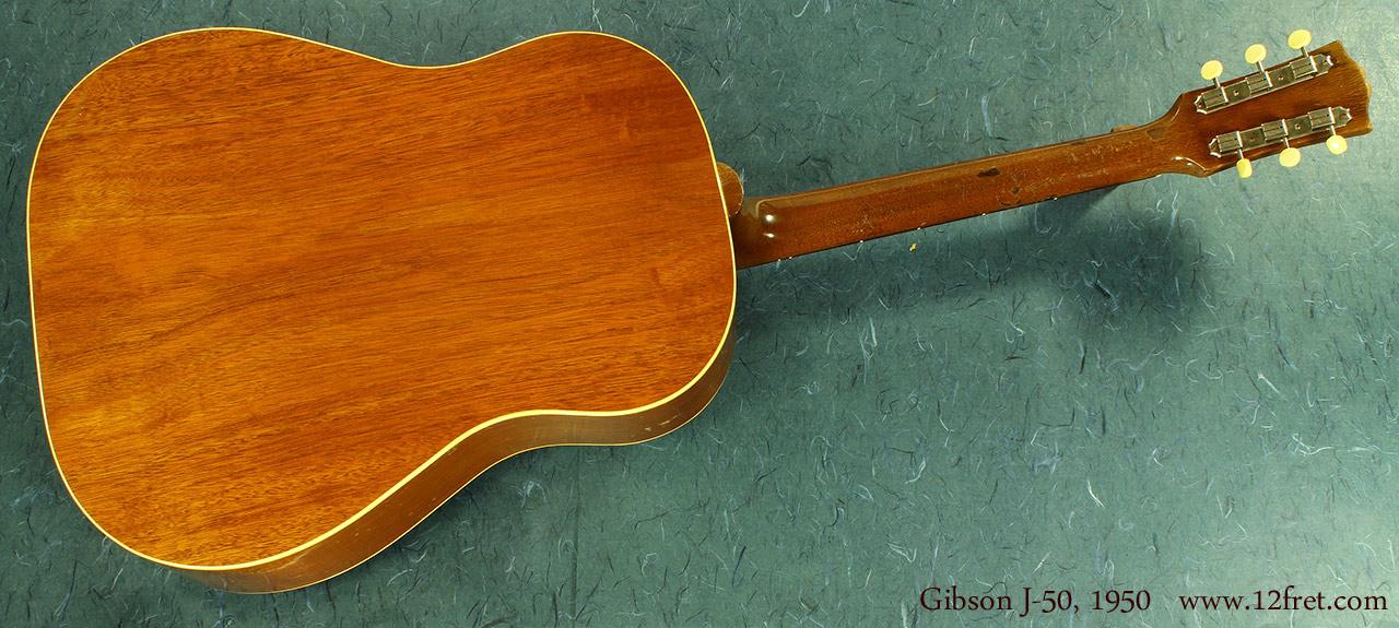 Gibson J-50 1950 full back view