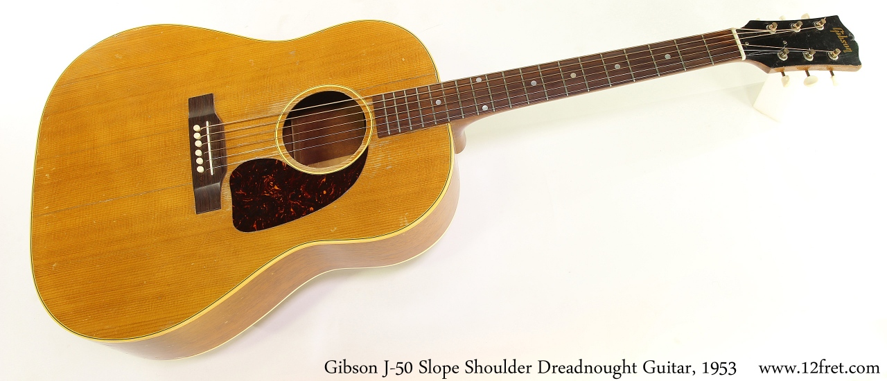 Gibson J-50 Slope Shoulder Dreadnought Guitar, 1953 Full Front View