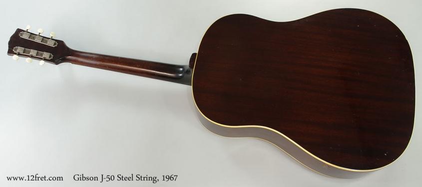 Gibson J-50 Steel String, 1967 Full Rear View