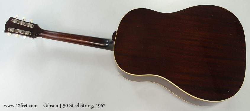 Gibson J-50 Steel String, 1967 Full Rear View
