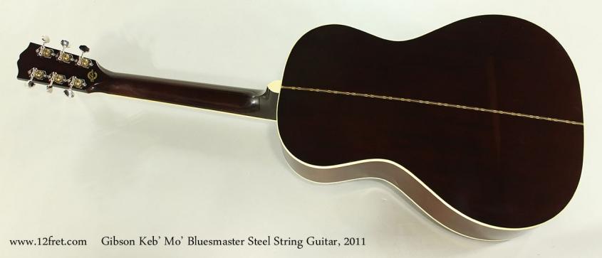 Gibson Keb' Mo' Bluesmaster Steel String Guitar, 2011 Full Rear View