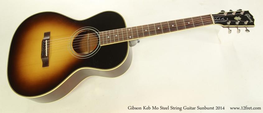 Gibson Keb Mo Steel String Guitar Sunburst 2014  Full Front View