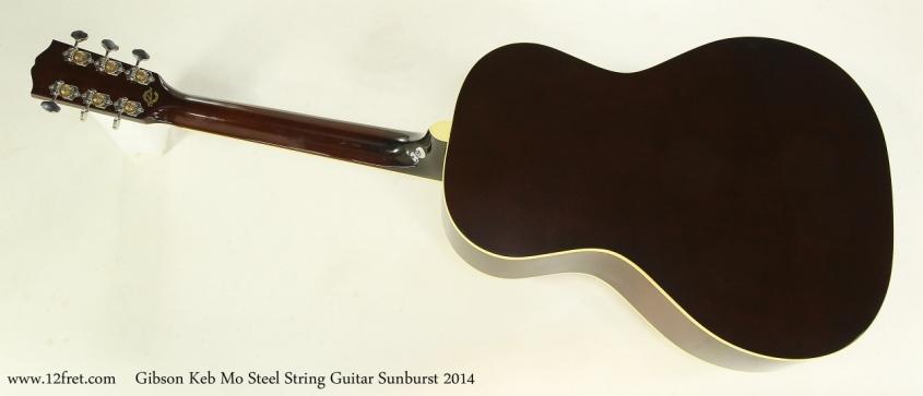 Gibson Keb Mo Steel String Guitar Sunburst 2014  Full Rear View