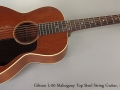 Gibson L-00 Mahogany Top Steel String Guitar, 1930s Full Front View