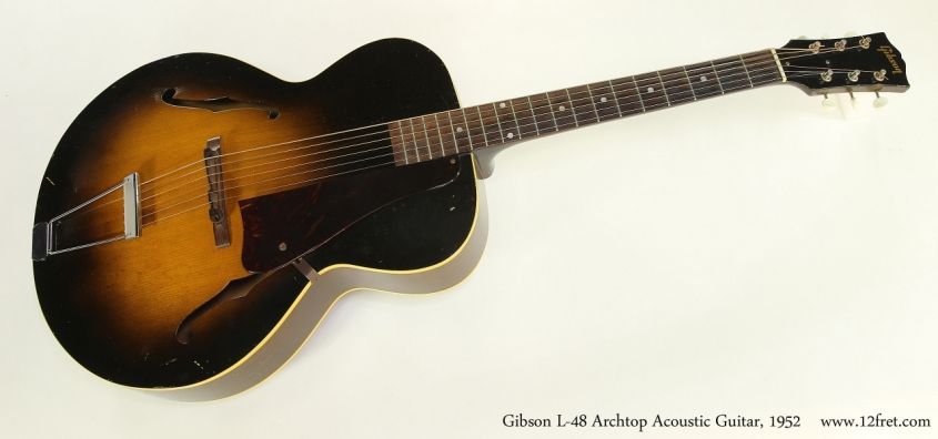 Gibson L-48 Archtop Acoustic Guitar, 1952  Full Front View