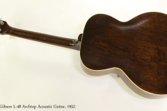 Gibson L-48 Archtop Acoustic Guitar, 1952  Full Rear View