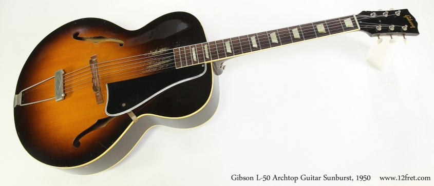 Gibson L-50 Archtop Guitar Sunburst, 1950   Full Front View