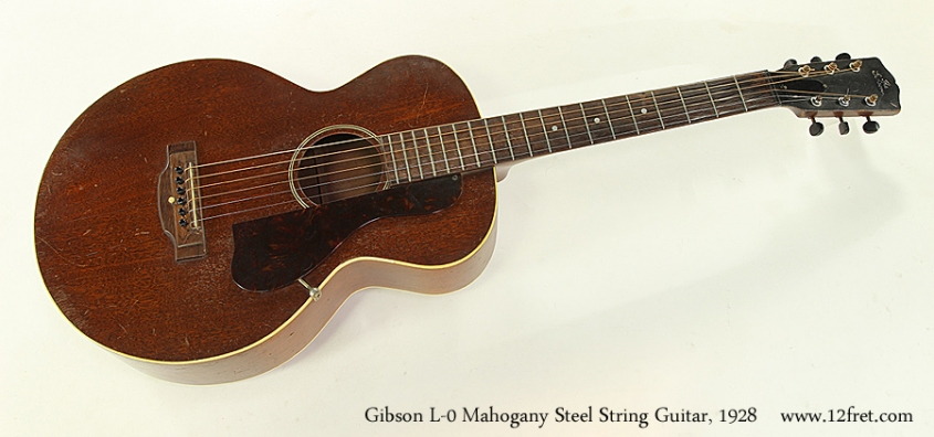 Gibson L-0 Mahogany Steel String Guitar, 1928 Full Front View
