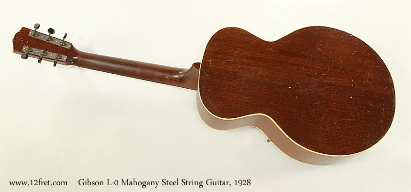 Gibson L-0 Mahogany Steel String Guitar, 1928 Full Rear View