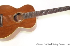 Gibson L-0 Steel String Guitar,  1927 Full Front View