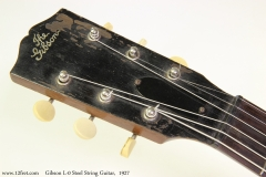 Gibson L-0 Steel String Guitar,  1927 Head Front View
