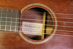Gibson L-0 Steel String Guitar,  1927 Label View