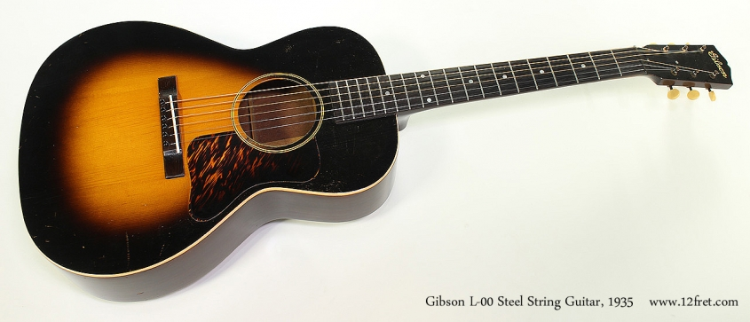 Gibson L-00 Steel String Guitar, 1935 Full Front View