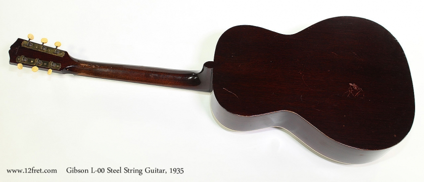 Gibson L-00 Steel String Guitar, 1935 Full Rear View