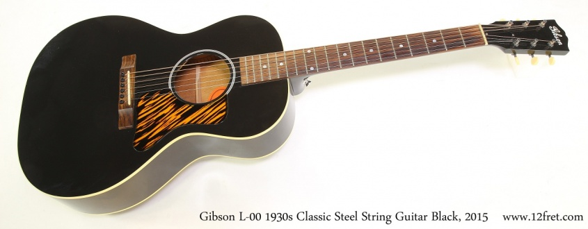 Gibson L-00 1930s Classic Steel String Guitar Black, 2015 Full Front View