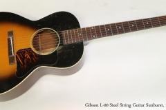 Gibson L-00 Steel String Guitar Sunburst, 1936  Full Front View