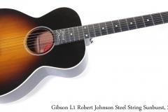 Gibson L1 Robert Johnson Steel String Sunburst, 2005 Full Front View