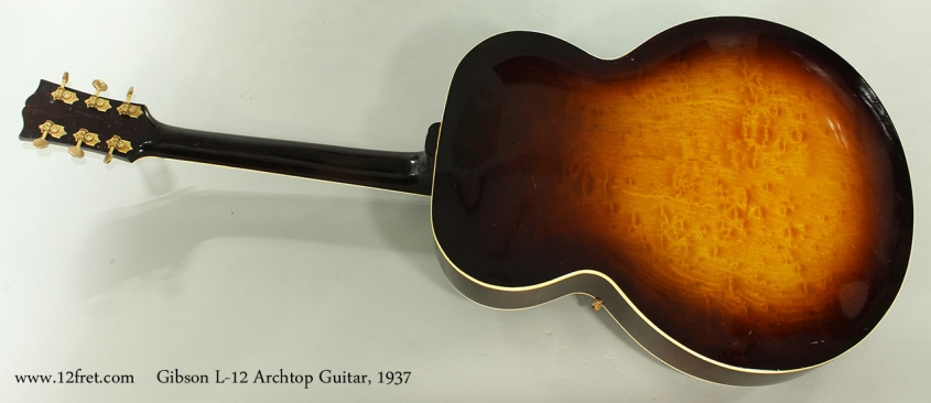Gibson L-12 Archtop Guitar, 1937 Full Rear View