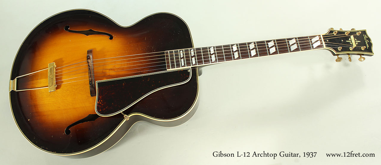Gibson L-12 Archtop Guitar, 1937 Full Front View