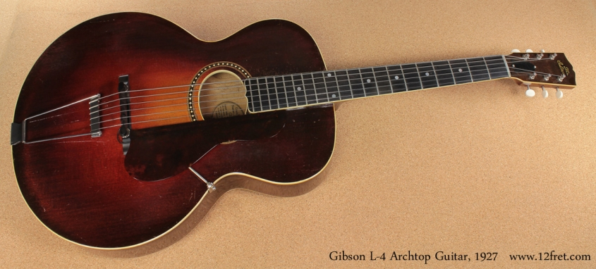1927 Gibson L-4 Archtop Guitar full front view
