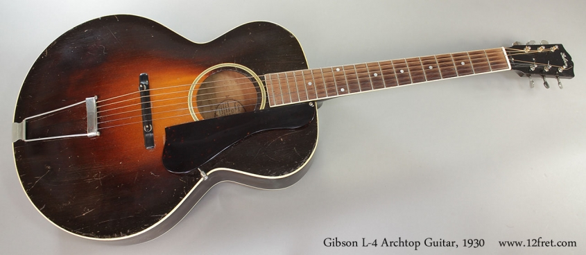 Gibson L-4 Archtop Guitar, 1930 Full Front View