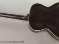 Gibson L-4 Archtop Guitar, 1930 Full Rear View