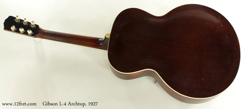 Gibson L-4 Archtop Guitar 1927 full rear view