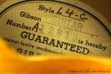 Gibson L-4C, 1952 label