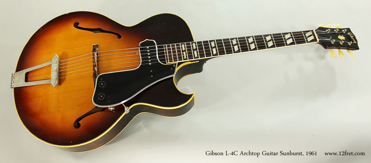 Gibson L-4C Archtop Guitar Sunburst, 1961 Full Front View