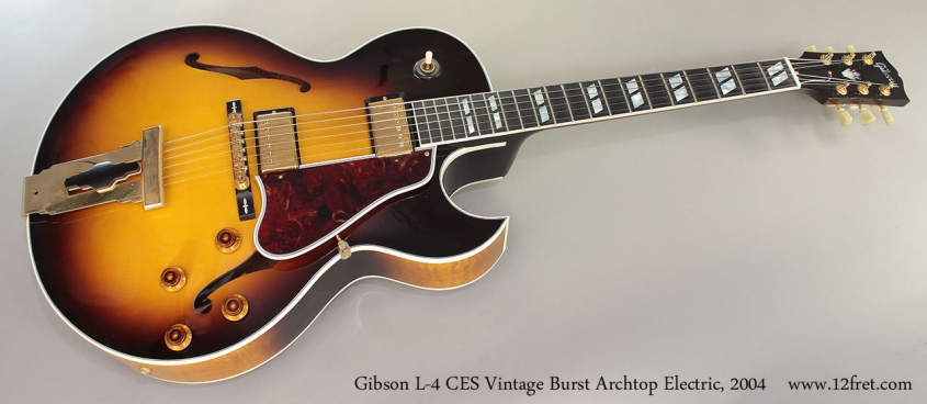 Gibson L-4 CES Vintage Burst Archtop Electric, 2004 Full Front View