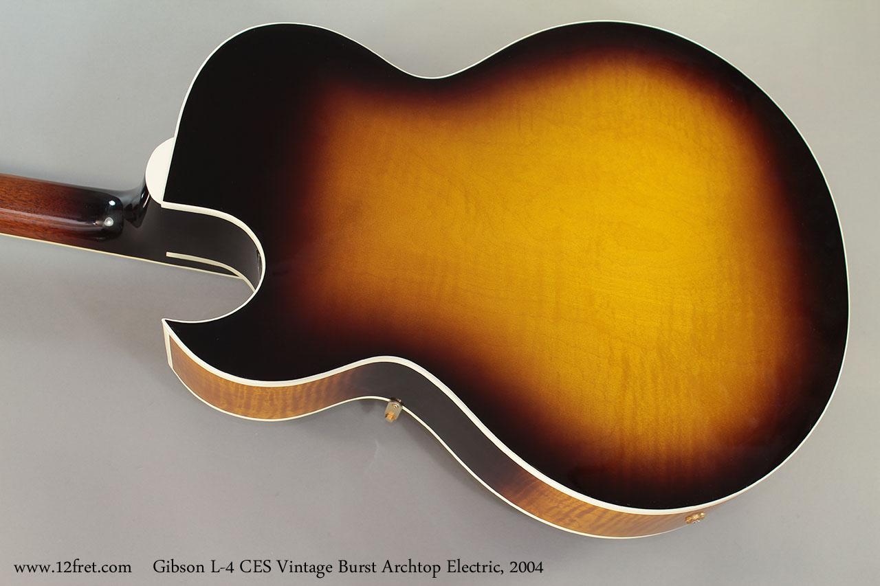 Gibson L-4 CES Vintage Burst Archtop Electric, 2004 Back