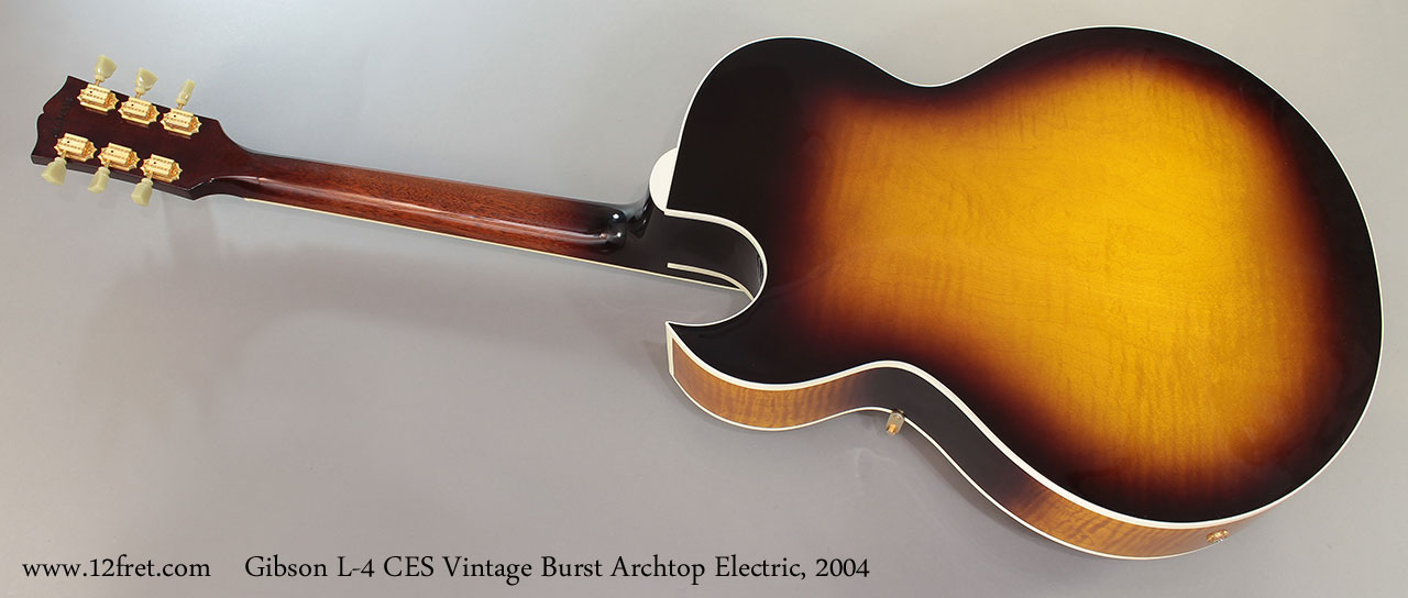 Gibson L-4 CES Vintage Burst Archtop Electric, 2004 Full Rear View