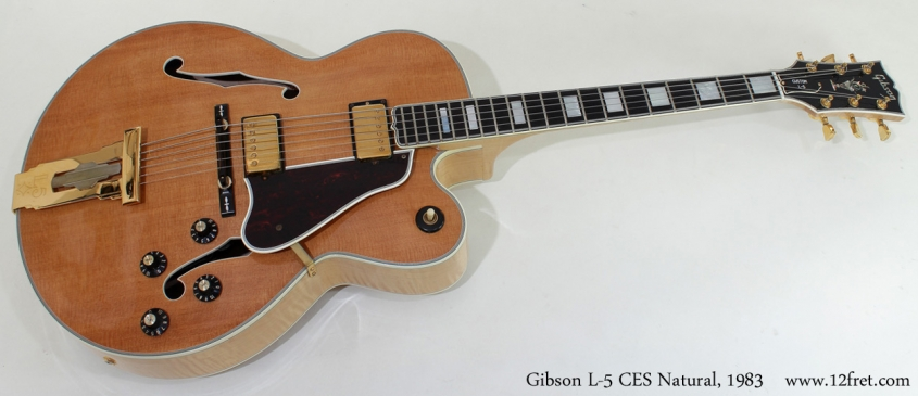 Gibson L-5 CES Natural 1983 full front view