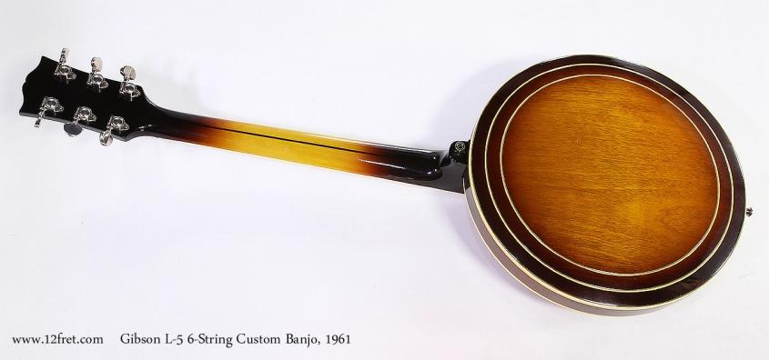 Gibson L-5 6-String Custom Banjo, 1961 Full Rear View