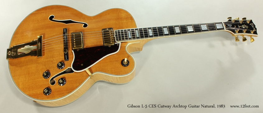 Gibson L-5 CES Cutway Archtop Guitar Natural, 1983 Full Front View