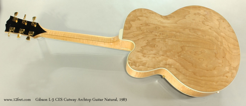 Gibson L-5 CES Cutway Archtop Guitar Natural, 1983 Full Rear View