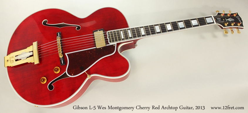 Gibson L-5 Wes Montgomery Cherry Red Archtop Guitar, 2013 Full Front View