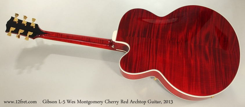 Gibson L-5 Wes Montgomery Cherry Red Archtop Guitar, 2013 Full Rear View