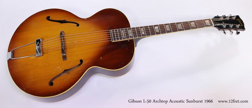 Gibson L-50 Archtop Acoustic Sunburst 1966 Full Front View