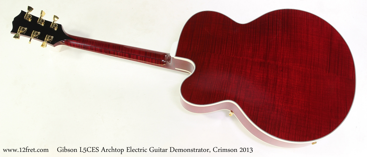 Gibson L5CES Archtop Electric Guitar Demonstrator, Crimson 2013  Full Rear View