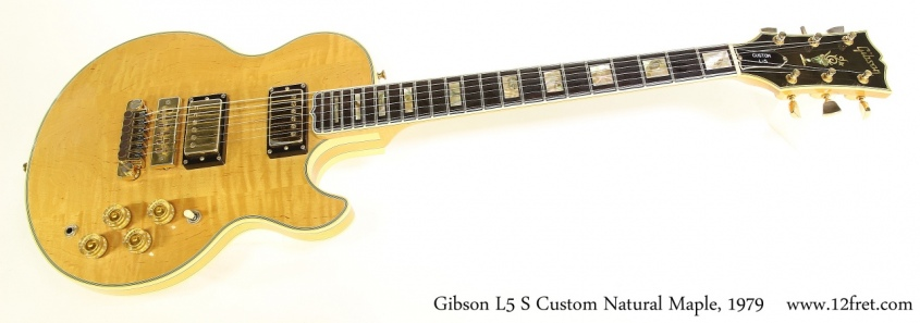 Gibson L5 S Custom Natural Maple, 1979 Full Front View