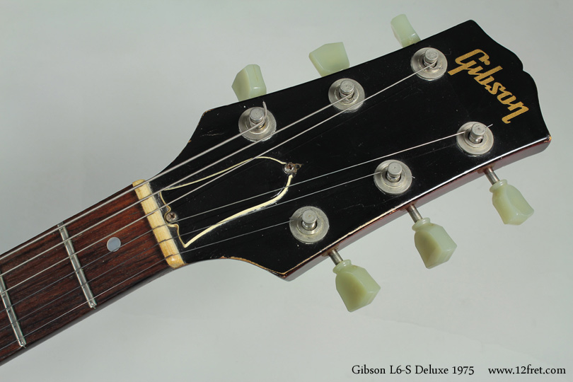 Gibson L6-S Deluxe 1975 head front view