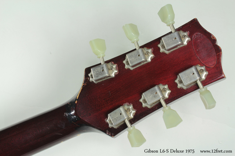 Gibson L6-S Deluxe 1975 head rear view